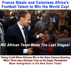 France steals Africans